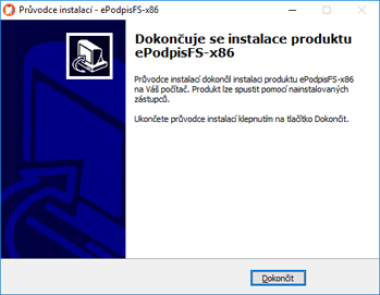 Instalace ePodpisFS - Windows